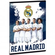 Caiet Dictando FC Real Madrid alb cu albastru A5 40 file