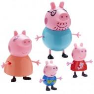 Set 4 figurine Peppa Pig - familia Peppa Pig