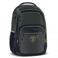 Ghiozdan ergonomic cu 2 compartimente Green Lamborghini 49 cm