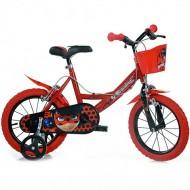 "Bicicleta pentru copii cu roti ajutatoare si cosulet 14"" Miraculous Buburuza si Motan Noir"