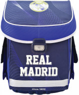 Ghiozdan ergonomic compact FC Real Madrid Alb-Albastru