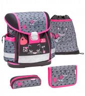 Ghiozdan scoala echipat Belmil Classy - Iubesc pisicile