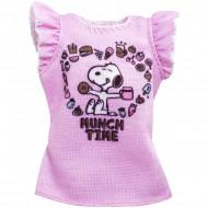 Haine Barbie - Tricou roz cu imprimeu Peanuts