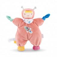 Jucarie de plus pentru somn bebelusi Corolle Mon Doudou Astronaut roz 25 cm