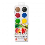Paleta acuarele 12 culori Water Color