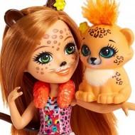 Papusa Cherish Cheetah si figurina Quick-Quick EnchanTimals