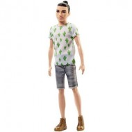 Papusa Ken Fashionistas Brunet Barbie cu tricou cactus