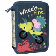 Penar echipat cu doua compatimente Wheels On Fire Peppa Pig