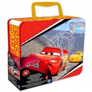 Puzzle Disney Cars 3D cu 24 piese in cutie metalica
