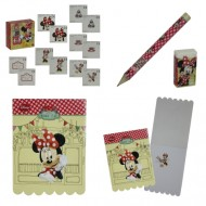 Set 16 instrumente de scris Minnie Mouse Cafe