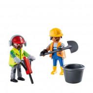 Set 2 figurine Playmobil - Muncitori in constructii 70272