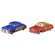 Set 2 masinute metalice Fabulosul Hudson Hornet si Jet Robinson Disney Cars 3