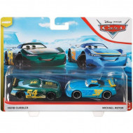 Set 2 masinute metalice Herb Curbler si Michael Rotor Disney Cars