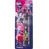 Set 4 Creioane Grafit si Ascutitoare My Little Pony