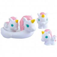 Set 4 jucarii pentru baie Familia de unicorni