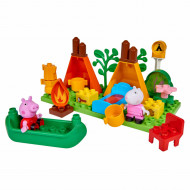 Set de constructie Big Bloxx Peppa Pig set camping