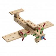 Set de constructie din lemn Matador Explorer - Avion