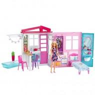 Set de joaca casa mobilata si papusa Barbie