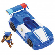 Set de joaca Chase si mini masina de politie 2 in 1 Patrula Catelusilor - Filmul