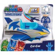 Set de joaca Eroi in Pijama, masinuta Cat Car si figurina Pisoi (Catboy)