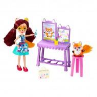 Set de joaca Papusa Felicity Fox si Studioul de Arta EnchanTimals