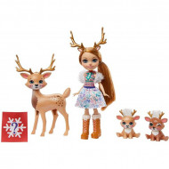 Set de joaca papusa Rainey Reindeer si renii Marathon, Jogger si Gallop Enchantimals