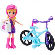 Set de joaca Polly Pocket - Polly si bicicleta