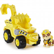 Set de joaca Rubble si Super vehiculul Rev-Up Paw Patrol Dino Rescue - Patrula Catelusilor