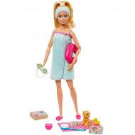 Set de joaca papusa Barbie cu accesorii de SPA