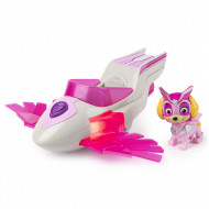 Set Skye si Super Aeronava cu sunete si lumini Paw Patrol Mighty Pups - Patrula Catelusilor