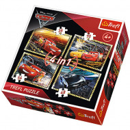 Puzzle Disney Cars 4 in 1 - 35, 48, 54 si 70 piese