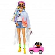 Barbie Extra - Papusa cu parul colorat si accesorii