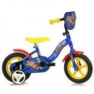 """Bicicleta pentru copii cu roti ajutatoare si sticla de apa 10"""" Sam Pompierul"""