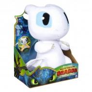 Figurina de plus interactiva Light Fury 36 cm - Cum sa-ti dresezi dragonul
