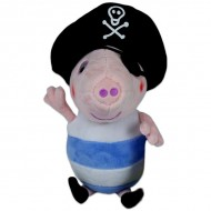 Figurina de plus Peppa Pig 25 cm George pirat