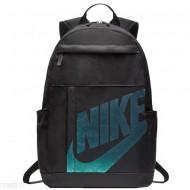Ghiozdan rucsac Nike Elemental negru cu scris turcoaz, cu 4 compartimente