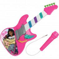Jucarie muzicala Barbie chitara si microfon cu sunete si lumini