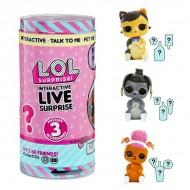 Pachet surpriza cu animalut interactiv si accesorii LOL Surprise Interactive Live Pets