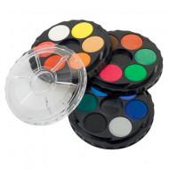 Paleta rotunda acuarele 18 culori