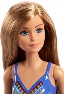 Papusa Barbie in costum de baie mov