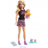 Papusa Barbie Skipper blonda cu bebelus brunet si accesorii