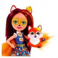 Papusa Felicity Fox cu figurina Flick EnchanTimals