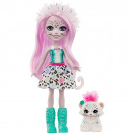 Papusa Sybill Snow Leopard si figurina Flake EnchanTimals