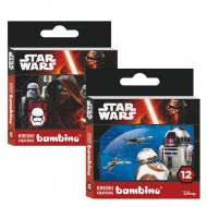 Set 12 creioane cerate Star Wars