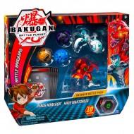 Set Bakugan 5 figurine Pyrus Howklor si Haos Mantonoid