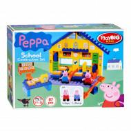 Set de constructie 87 piese Big Bloxx Scoala lui Peppa Pig