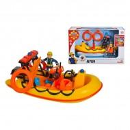 Set de joaca Barca de Salvare Neptun si Figurina Penny Morris -  Sam Pompierul