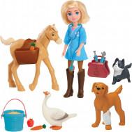 Set de joaca cu figurine - Abigail si cabinetul veterinar