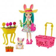 Set de joaca Fluffy Bunny si Gradina Enchantimals