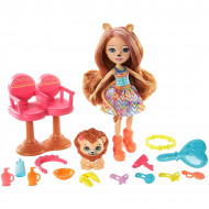 Set de joaca Lacey Lion si Salonul de coafura Enchantimals